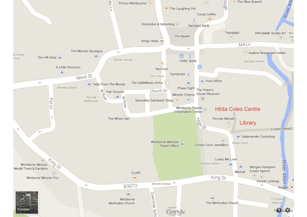 DIrections to Hilda Coles Centre